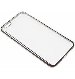iPhone 6 Plus / 6S Plus U.R.V. TPU Case with Silver Edge TPU Transparent