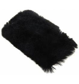 iPhone 6 Plus / 6S Plus Rabbit Fur Case Plastic Black
