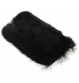 iPhone 6 / 6S Rabbit Fur Case Plastic Black
