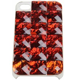 iPhone 4 / 4S Red Stones Hard Case Plastic Red