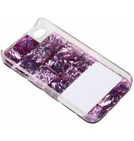iPhone 4 / 4S Purple Stones Hard Case Plastic Purple