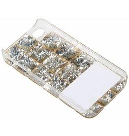 iPhone 4 / 4S Beige Stones Hard Case Plastic Beige