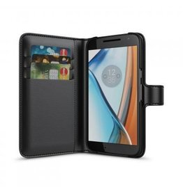 BeHello Motorola Moto G4 Wallet Case Black
