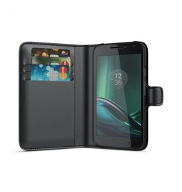 BeHello Motorola Moto G4 Play Wallet Case Black