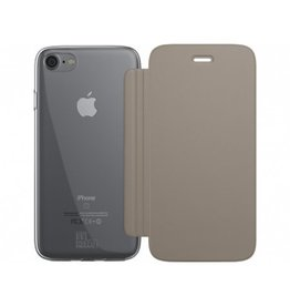 BeHello iPhone 7 / 6S / 6 Book Case with Tranparent Back Gold