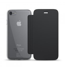 BeHello iPhone 7 / 6S / 6 Book Case Transparent Back Black
