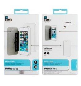 BeHello iPhone 5 / 5S / SE Book Case White