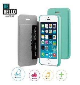 BeHello iPhone 5 / 5S / SE Book Case Green