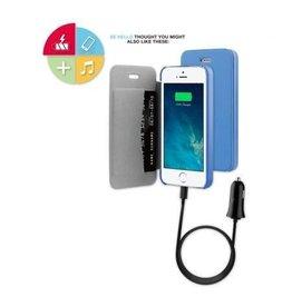 BeHello iPhone 5 / 5S / SE Book Case Blue