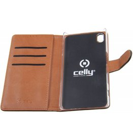 Sony Xperia Z5 Celly Wallet Case Leather Black