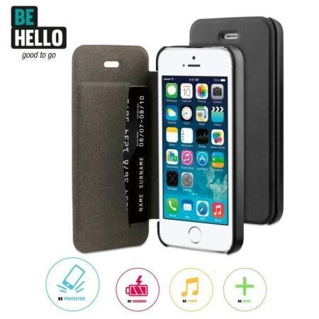 BeHello iPhone 5/5S/SE Book Case Black