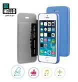BeHello iPhone 5/5S/SE Book Case Blue