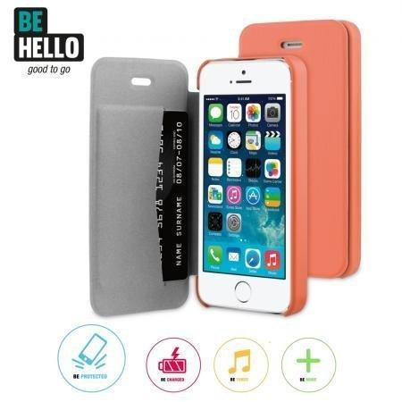BeHello iPhone 5/5S/SE Book Case Coral