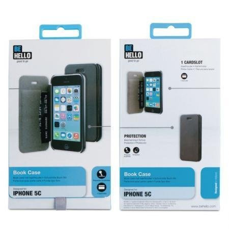 BeHello iPhone 5C Book Case Black