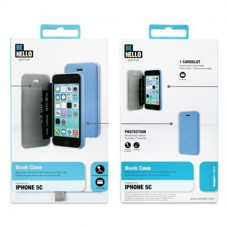 BeHello iPhone 5C Book Case Blue