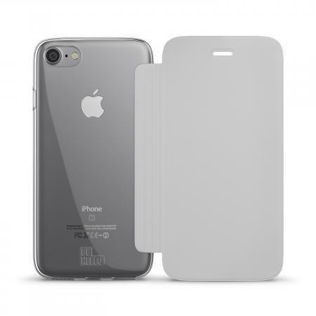 BeHello iPhone 7/6S/6 Book Case Transparent Back White
