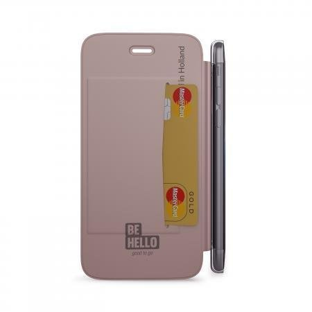 BeHello iPhone 7/6S/6 Book Case with Tranparent Back Rose Gold