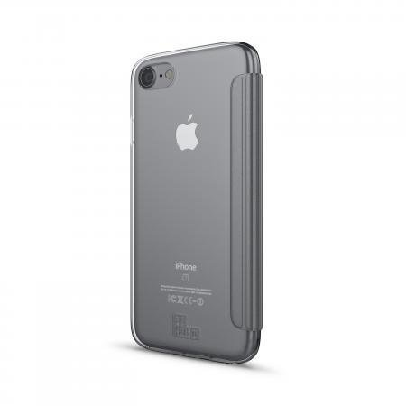 BeHello iPhone 7/6S/6 Book Case with Tranparent Back Silver