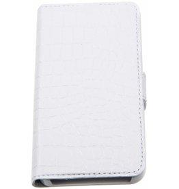 iPhone 5/5S/SE Valenta Croco Book Case White