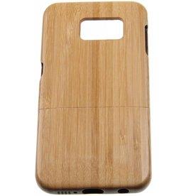 Samsung Galaxy S6 Edge Wood Hard Case Light-Brown