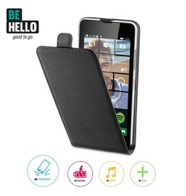BeHello Microsoft Lumia 640 Flip Case Black