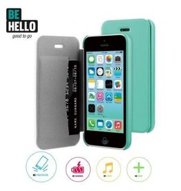 BeHello iPhone 5C Book Case Green