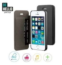 BeHello iPhone 5 / 5S / SE Book Case Black