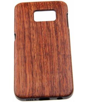 Samsung Galaxy S6 Edge Wood Hard Case Dark-Brown