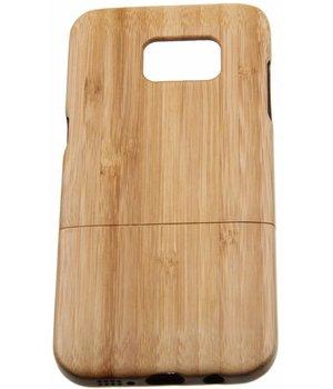 Samsung Galaxy S7 Edge Wood Hard Case Light-Brown