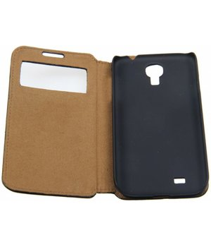 Samsung Galaxy S4 Book Case with Window Black