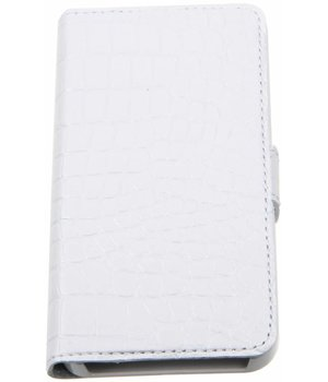 iPhone 5/5S/SE Valenta Croco Book Case White