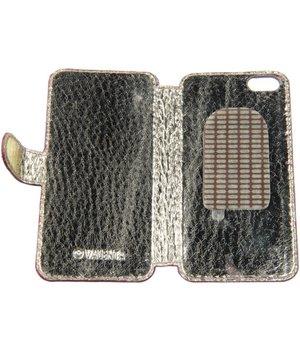 iPhone 5/5S/SE Valenta Slim Book Case Glitter Dark-Pink