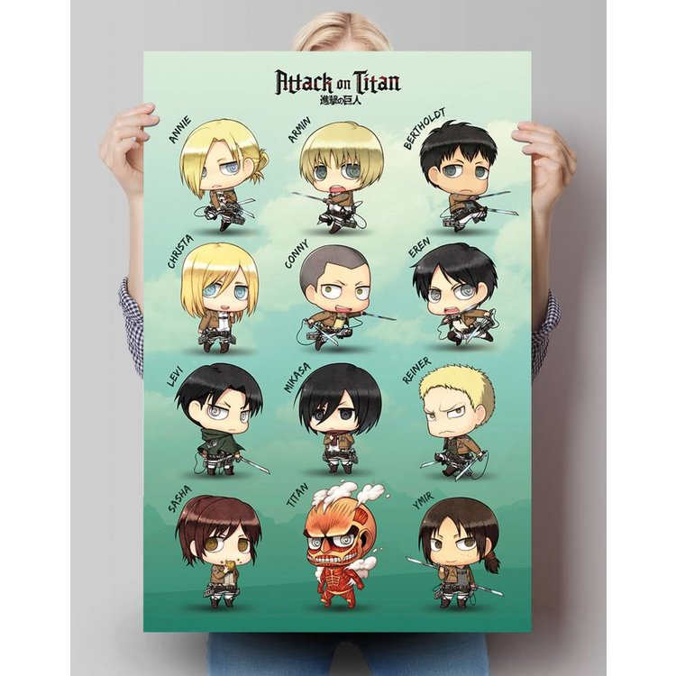 Attack on Titan Figuren - Poster 61 x 91.5 cm