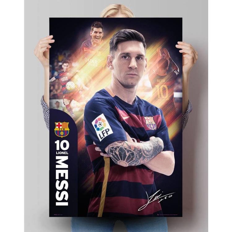 Lionel Messi Barcelona Seizoen 15/16 - Poster 61 x 91.5 cm