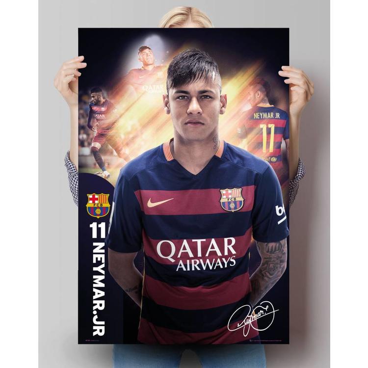 Neymar Barcelona Seizoen 15/16 - Poster 61 x 91.5 cm