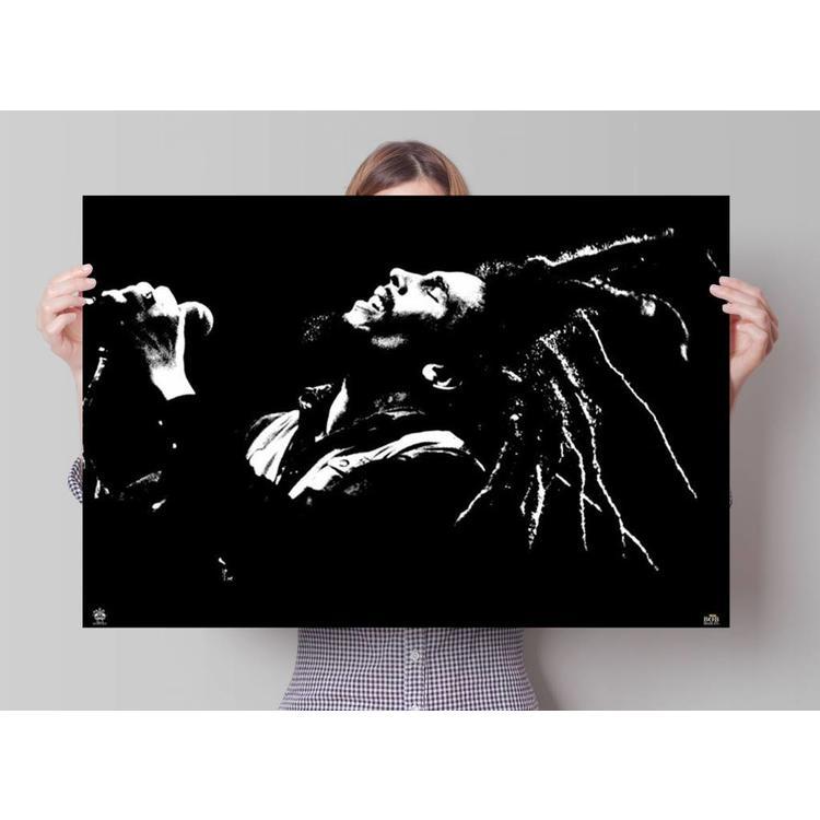 Bob Marley zwart wit - Poster 91.5 x 61 cm