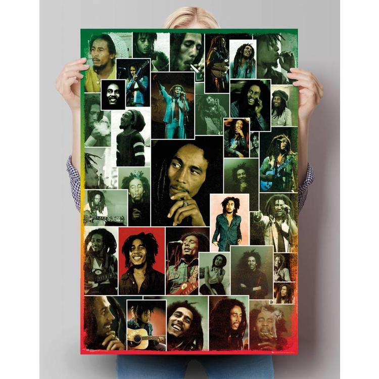 Bob Marley collage - Poster 61 x 91.5 cm