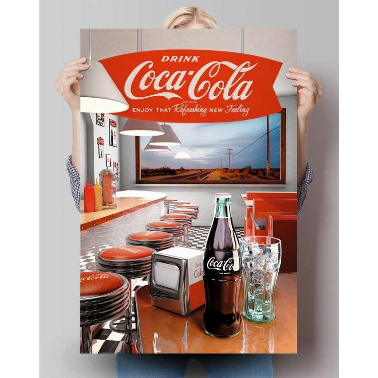 Coca-Cola diner  - Poster 61 x 91.5 cm