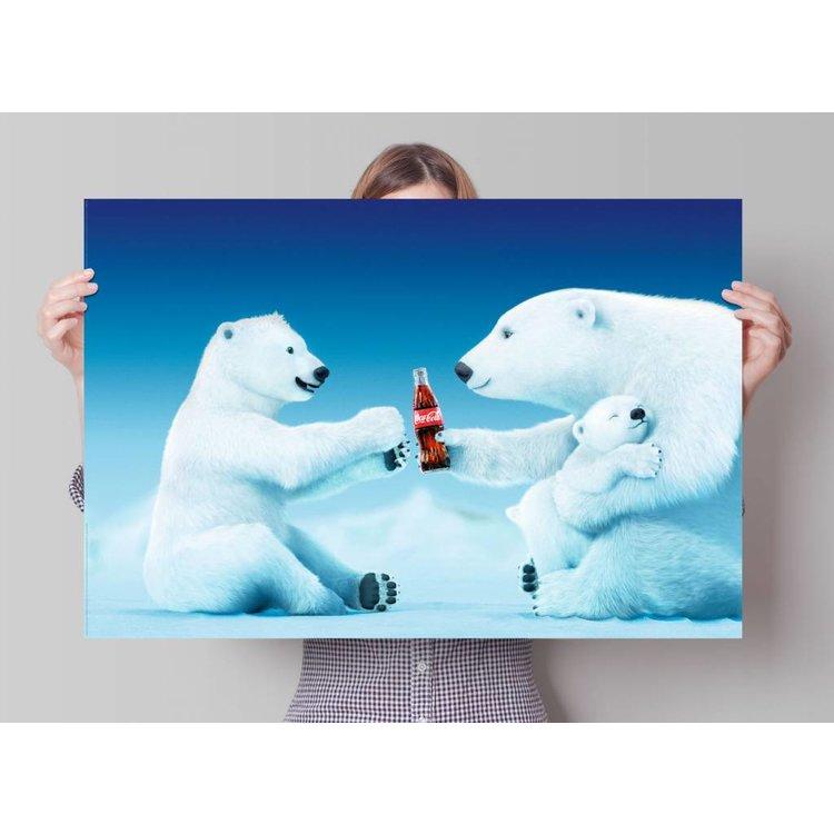 Coca-Cola ijsberen  - Poster 91.5 x 61 cm