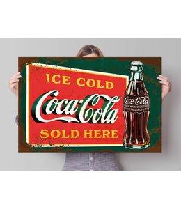 Poster Coca-Cola - stencil art