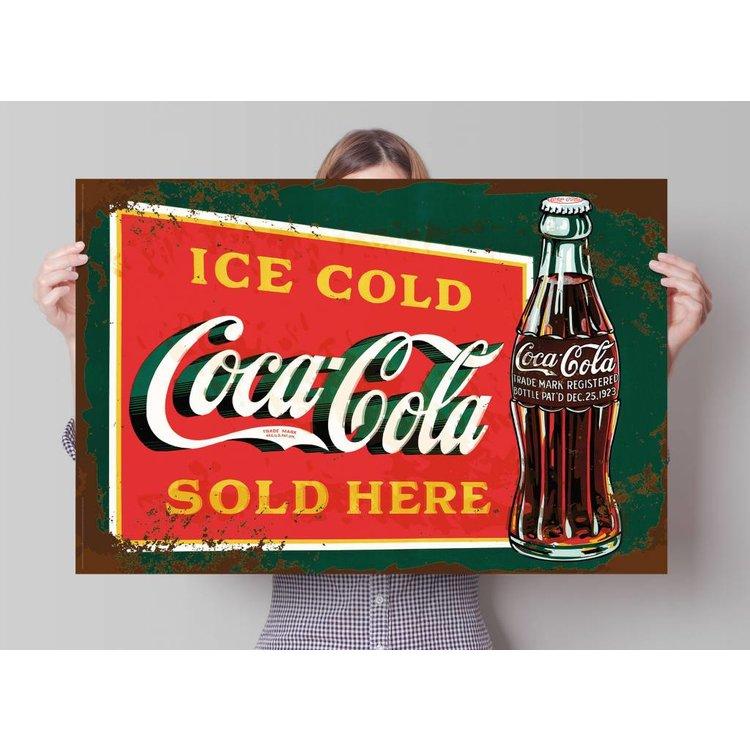 Coca-Cola - stencil art  - Poster 91.5 x 61 cm