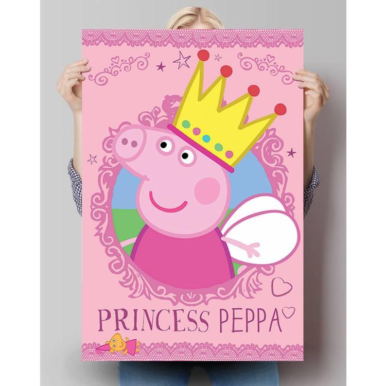 Peppa Pig prinses - Poster 61 x 91.5 cm