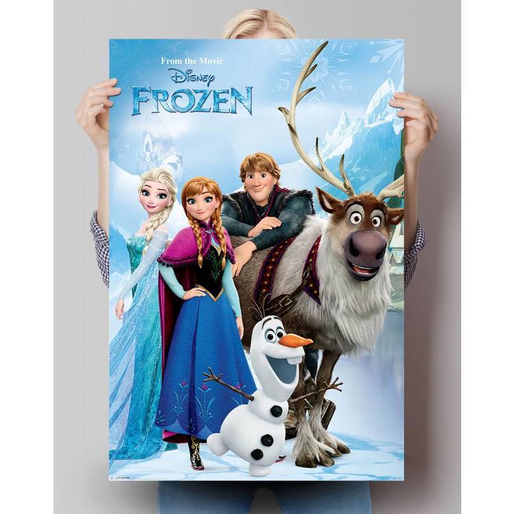 Figuren uit Frozen  - Poster 61 x 91.5 cm