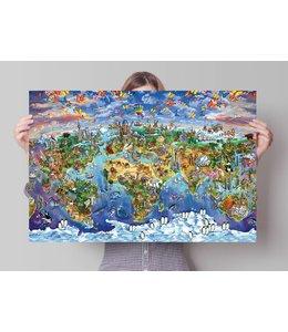 Poster Wereldwonderen op de wereld