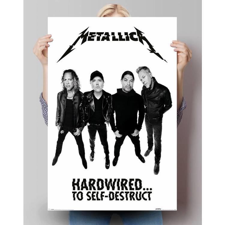 Metallica - hardwired band  - Poster 61 x 91.5 cm