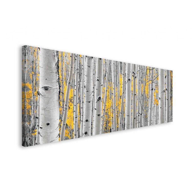 Berkenbos  - Schilderij 150 x 57 cm