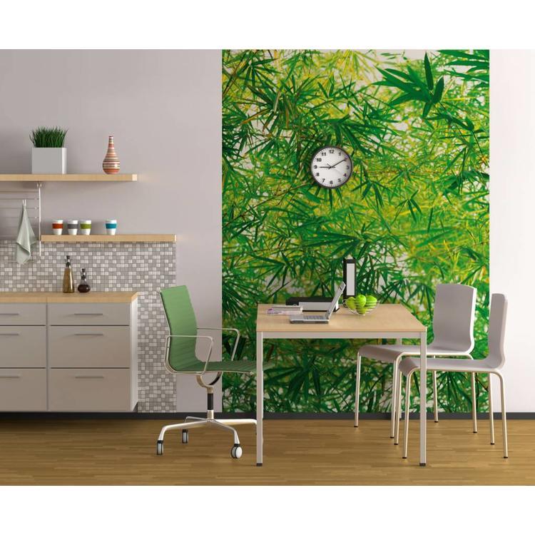 Bamboe Bladeren - Fotobehang 183 x 254 cm