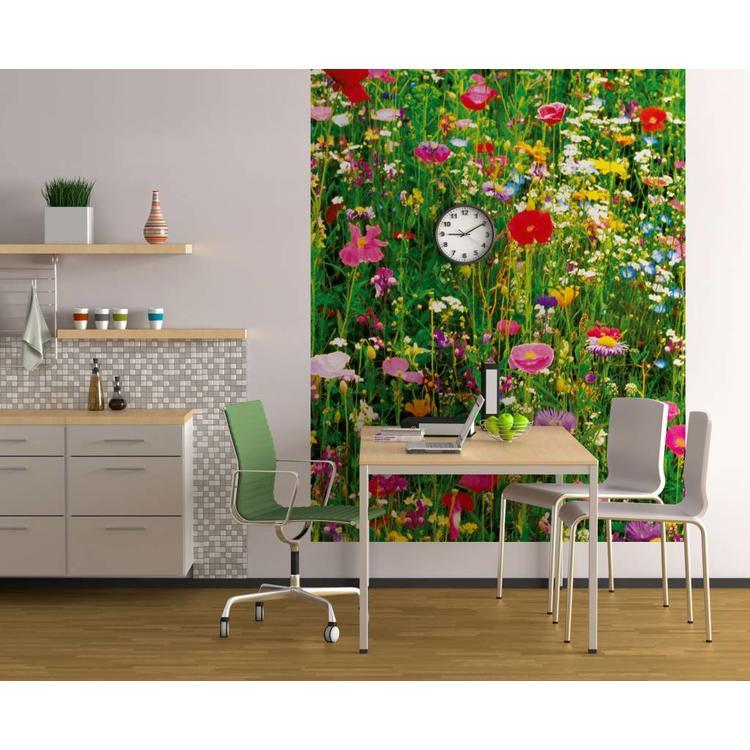 Bloemenweide  - Fotobehang 183 x 254 cm