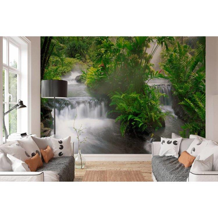 Watervallen  - Fotobehang 368 x 254 cm