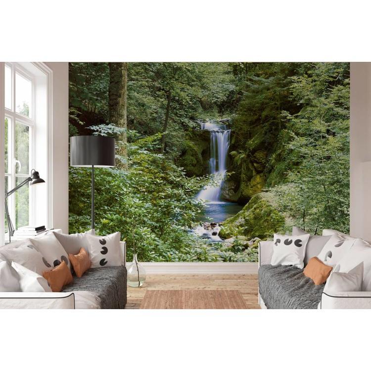 Waterval Lente - Fotobehang 366 x 254 cm